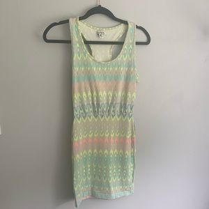 American Eagle Neon Print Mini Dress